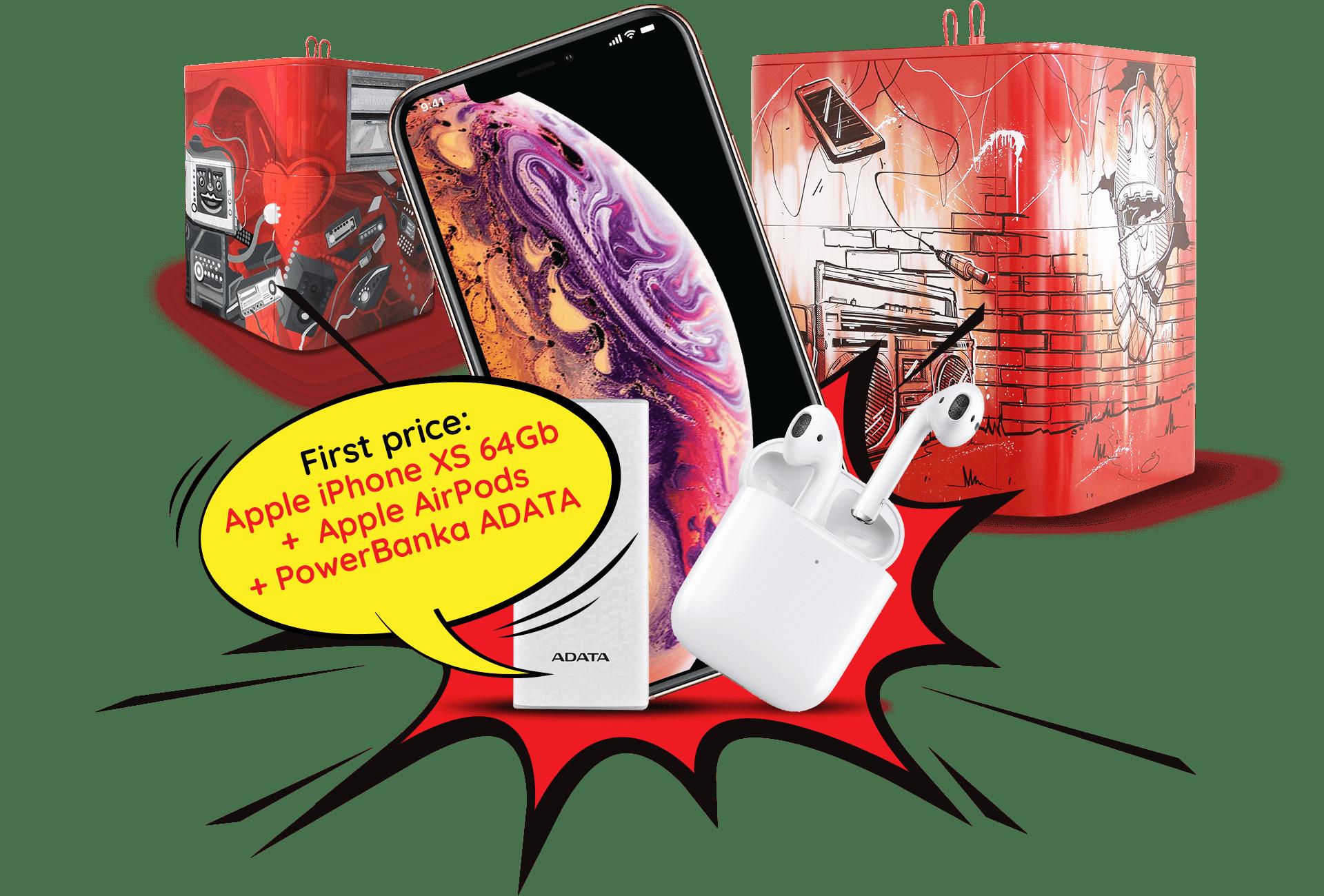 Vyhraj Apple iPhone XS + Apple Air Pods + powerbanku ADATA